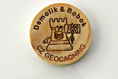 czech wood geocoin 16
