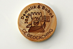 czech wood geocoin 17