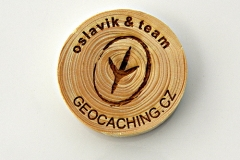 czech wood geocoin 18