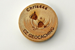 czech wood geocoin 21