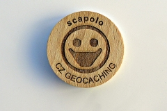 czech wood geocoin 23