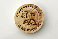 czech wood geocoin 26