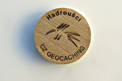czech wood geocoin 28
