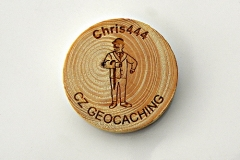 czech wood geocoin 31
