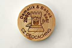 czech wood geocoin 32