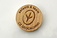czech wood geocoin 39