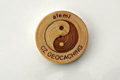 czech wood geocoin 40