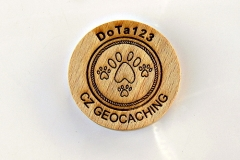 czech wood geocoin 64