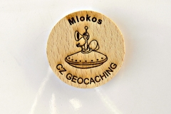 czech wood geocoin 66