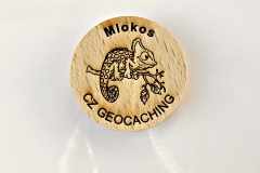 czech wood geocoin 67