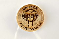 czech wood geocoin 68