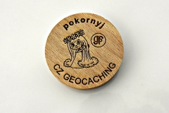 czech wood geocoin 7