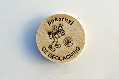 czech wood geocoin 9