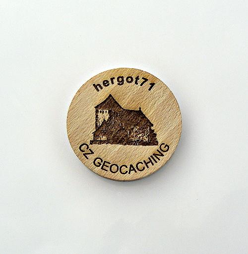 czech wood geocoin 1