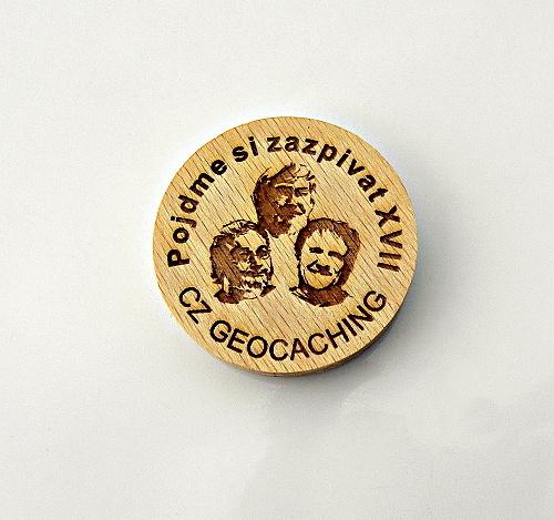 czech wood geocoin 10