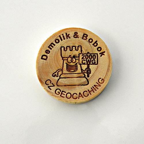 czech wood geocoin 16