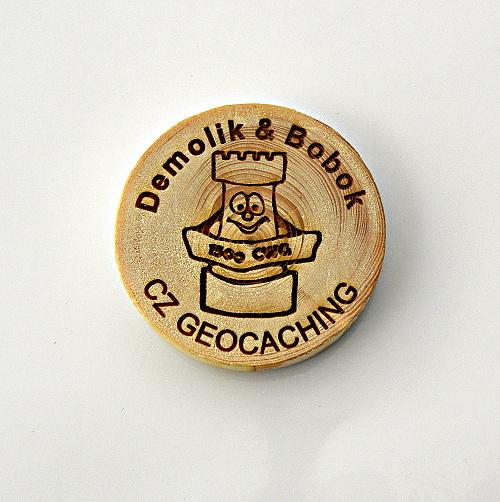 czech wood geocoin 22