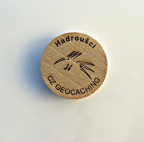 czech wood geocoin 28
