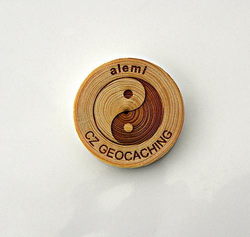 czech wood geocoin 40