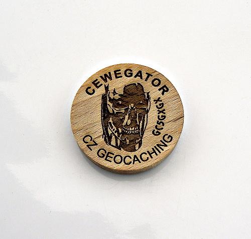 czech wood geocoin 42