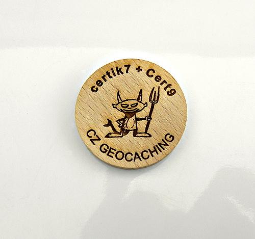 czech wood geocoin 47