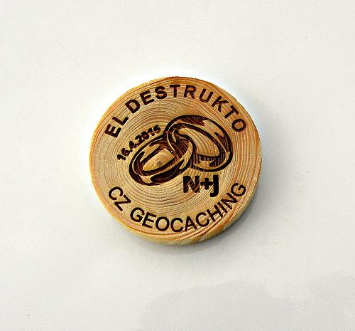 czech wood geocoin 6