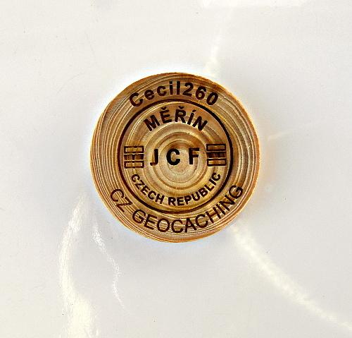 czech wood geocoin 60
