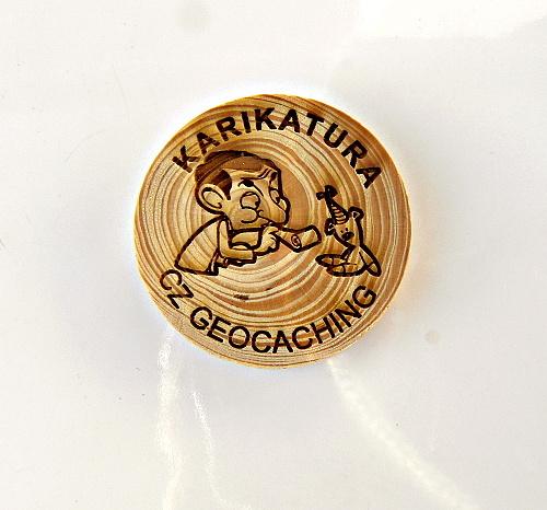 czech wood geocoin 65