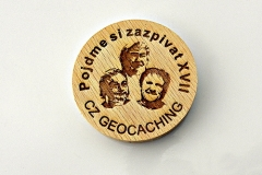 czech wood geocoin 10