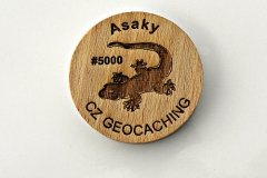 czech wood geocoin 14