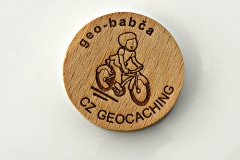 czech wood geocoin 15
