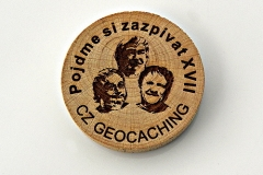 czech wood geocoin 20