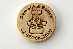czech wood geocoin 22