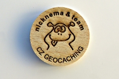 czech wood geocoin 24