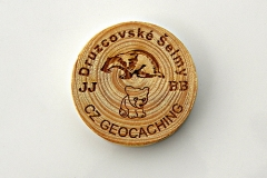 czech wood geocoin 25
