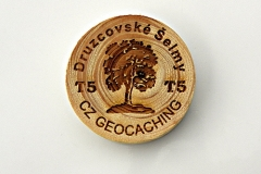 czech wood geocoin 27