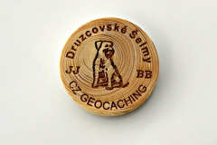 czech wood geocoin 30