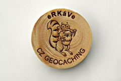 czech wood geocoin 33
