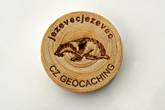 czech wood geocoin 36
