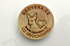 czech wood geocoin 46