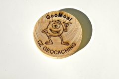 czech wood geocoin 49