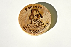 czech wood geocoin 50