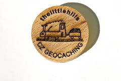 czech wood geocoin 51