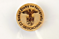 czech wood geocoin 62
