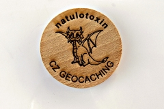 czech wood geocoin 63