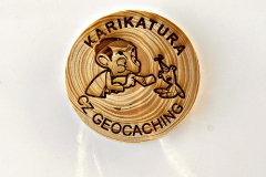 czech wood geocoin 65