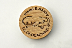 czech wood geocoin 8